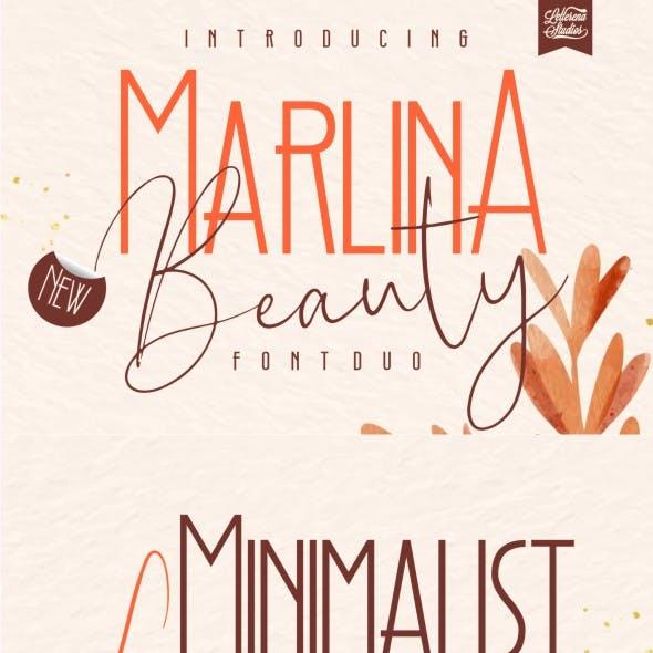 Marlina Beauty - Font Duo, Sans Serif and Signature Font
