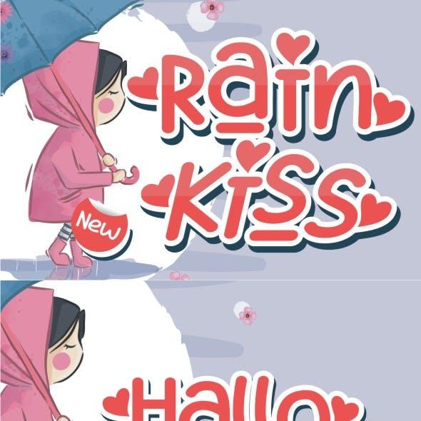 Rain Kiss - Crafting Love Font