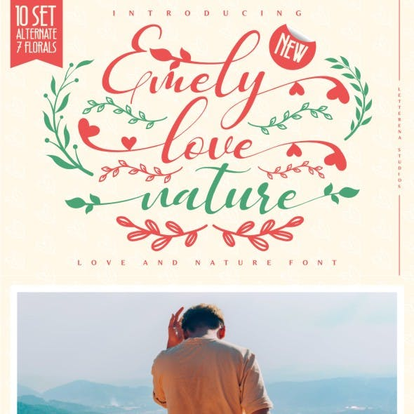 Emely love nature - Love and Nature Font