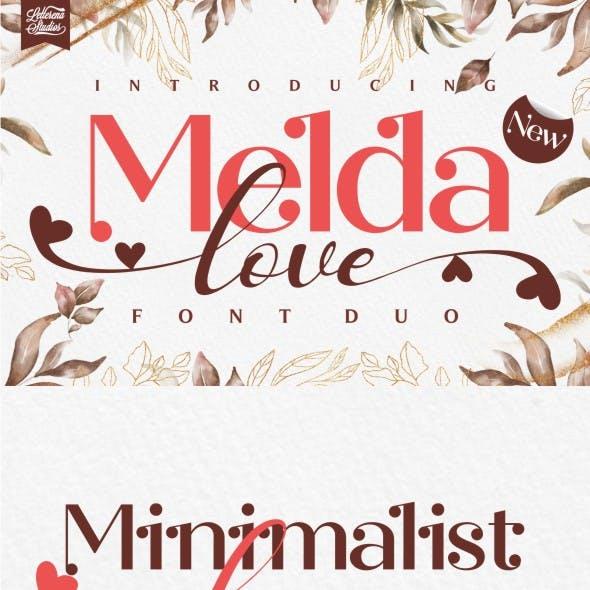 Melda love - Serif and Signature Love Font