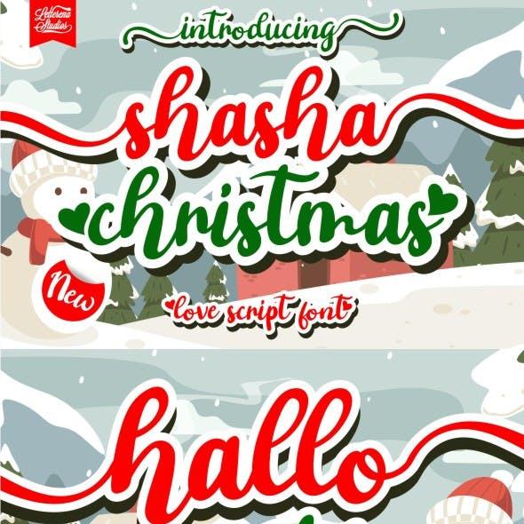shasha christmas - script love font