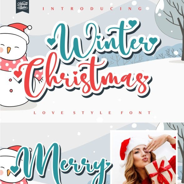 Winter Christmas - Love Style Font
