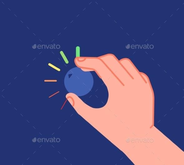 Hand Turns Button - Miscellaneous Vectors