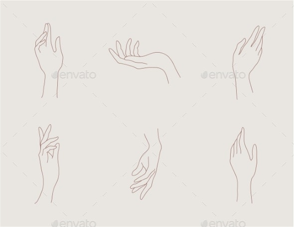 Vector Set of Abstract Hand - Miscellaneous Vectors