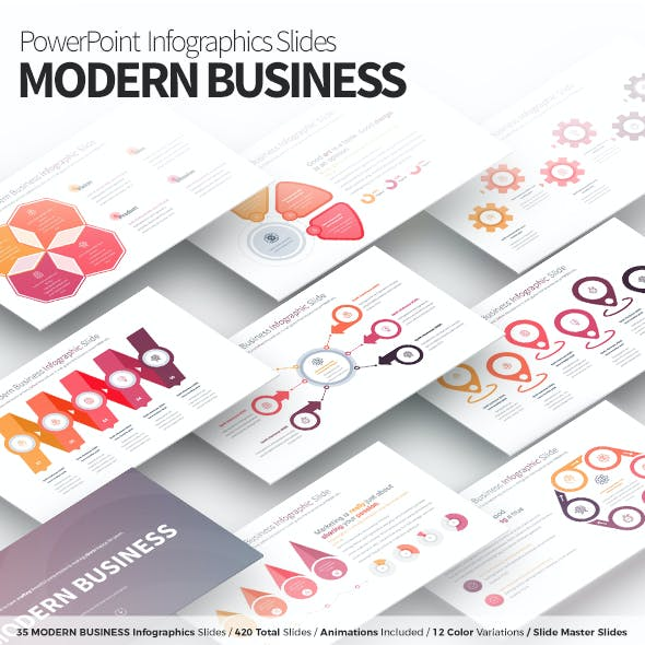 Modern Business - PowerPoint Infographics Slides