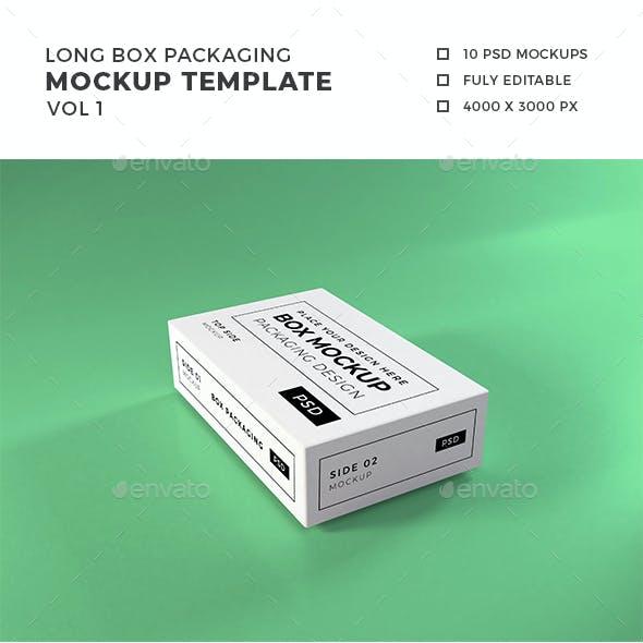 Long Box Packaging Mockup Vol 1