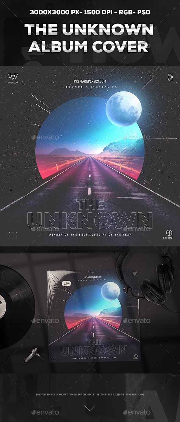 The Unknown Album Cover - Social Media Web Elements