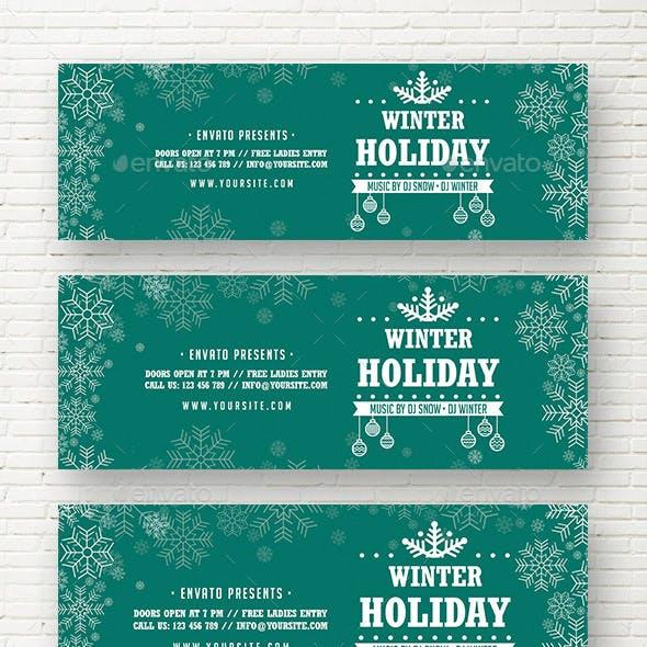 Winter Holiday Web Sliders