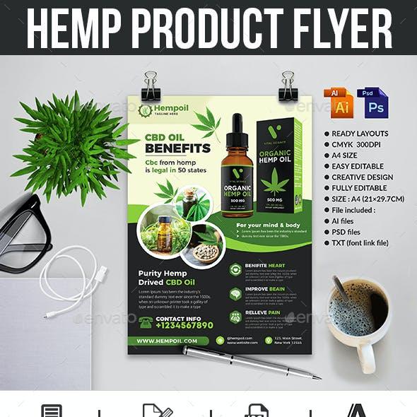 Hemp Product Flyer Templates
