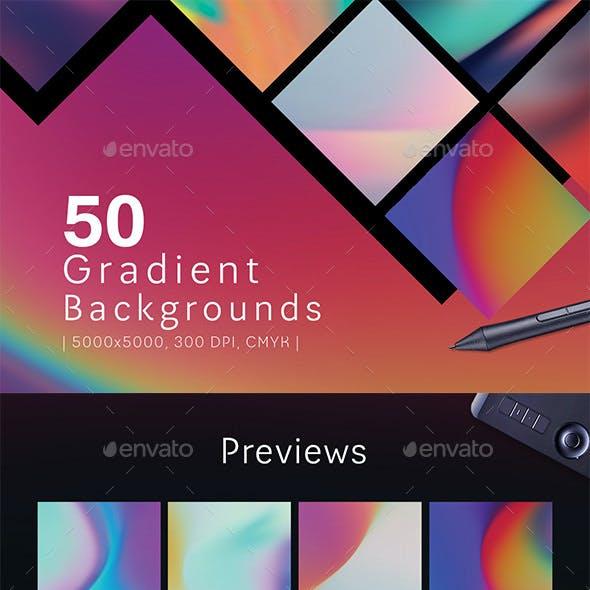 50 Gradient Backgrounds