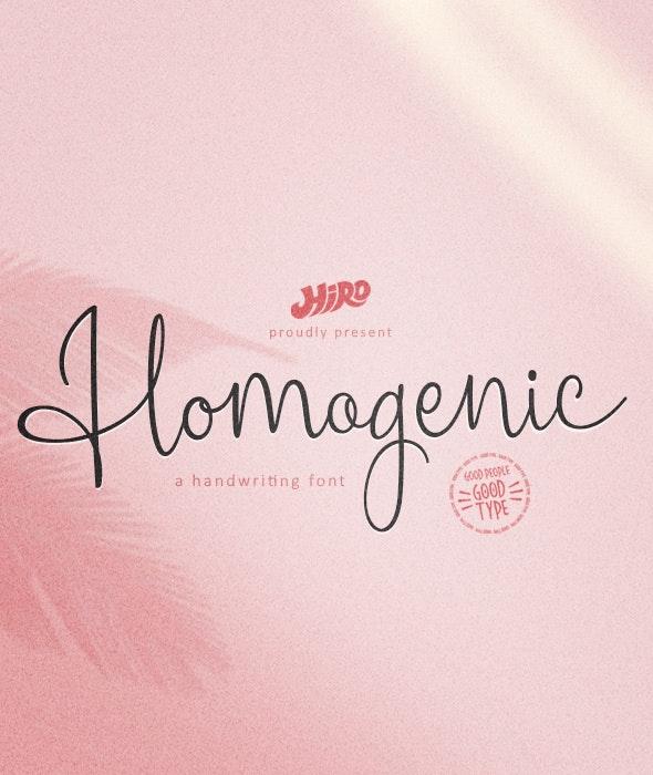 Homogenic - Hand-writing Script