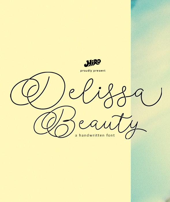 Delissa Beauty - Hand-writing Script