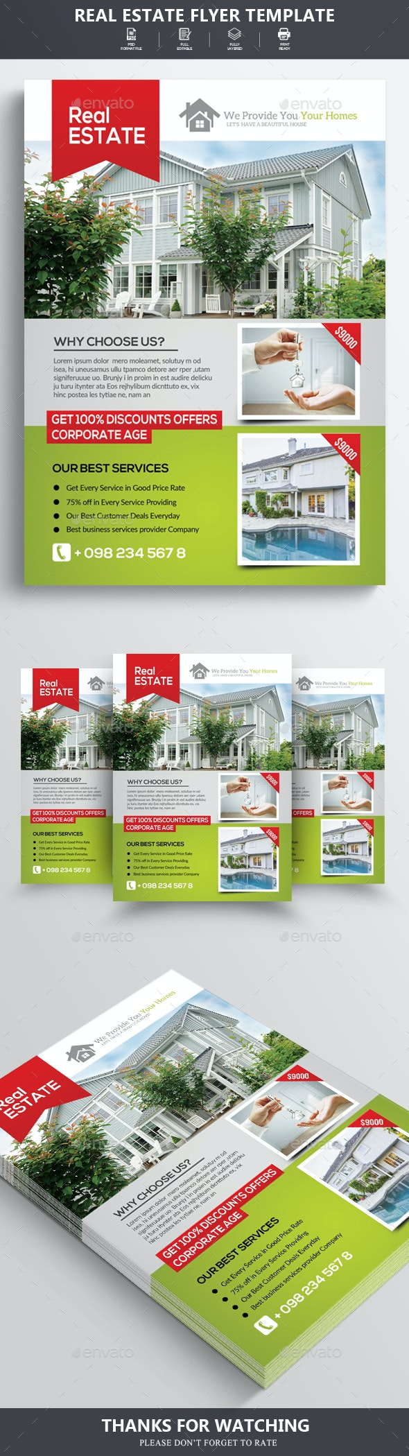 Real Estate Flyer/Poster - Flyers Print Templates