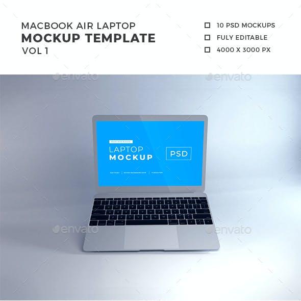 Macbook Air Laptop Mockup Vol 1