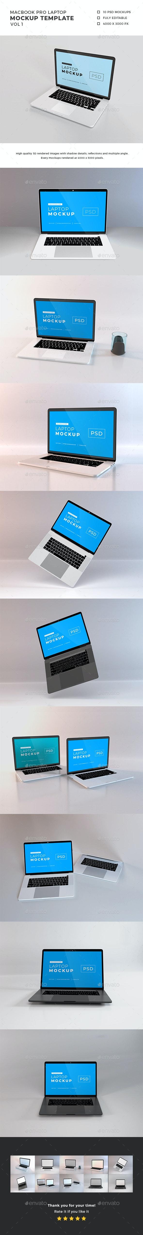Macbook Pro Laptop Mockup Vol 1 - Laptop Displays