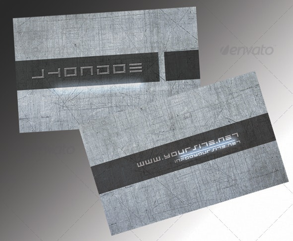 metal eclipse business card - Grunge Business Cards