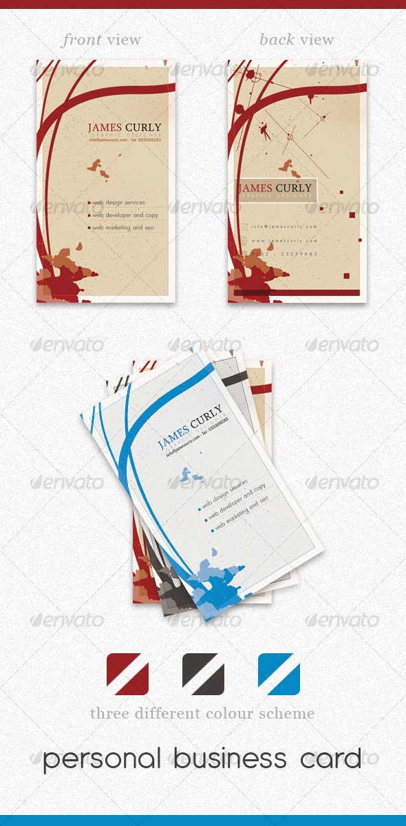 Personal Business Card PSD - Creative Business Cards