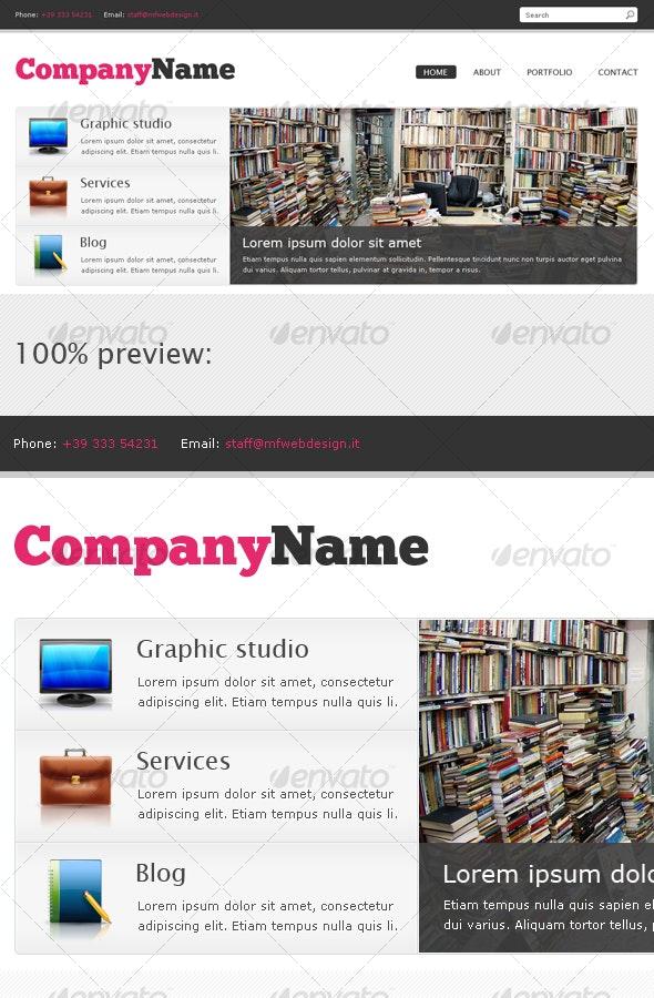 Website header