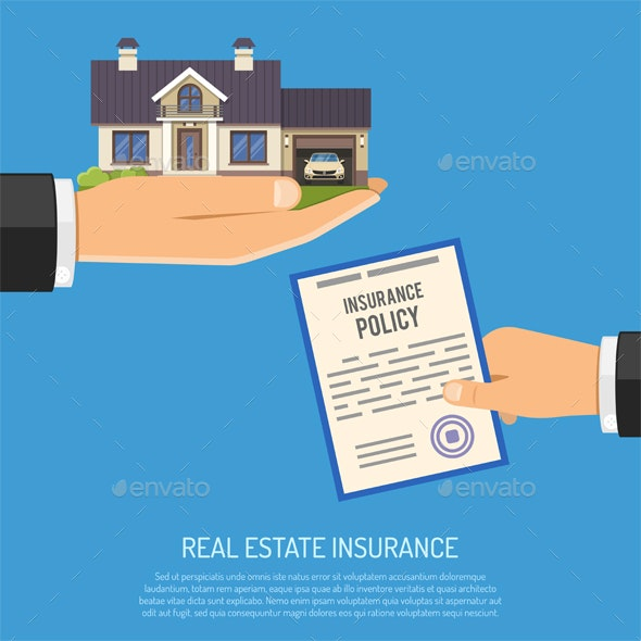 Real Estate Insurance Concept - Services Commercial / Shopping