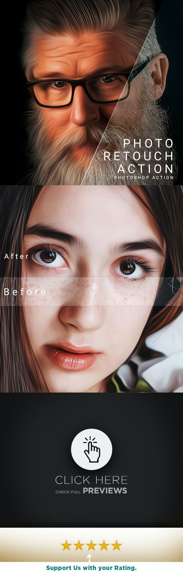 Photo Retouch Action - Photo Effects Actions
