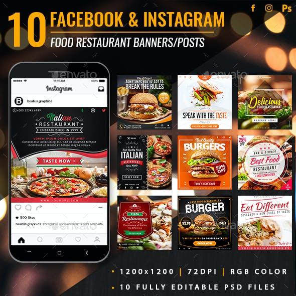 Facebook & Instagram Food Restaurant Banners