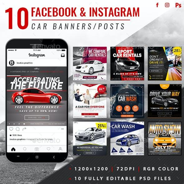 Facebook & Instagram Car Banners