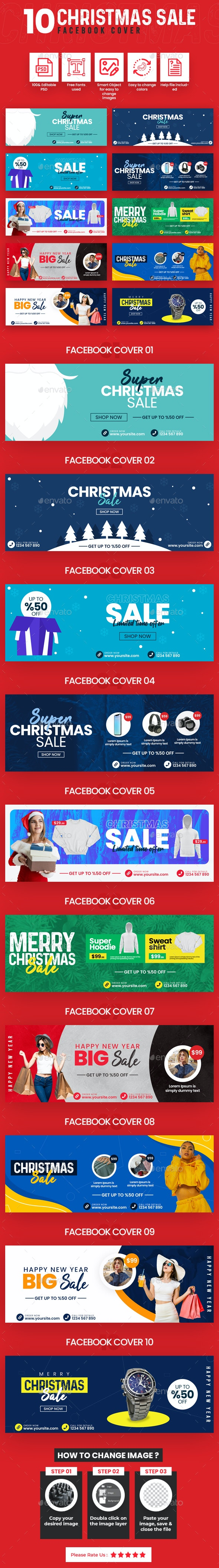 Christmas Sale 10 Facebook Cover - Facebook Timeline Covers Social Media