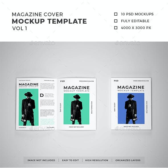 Magazine Cover Mockup Template Vol 1