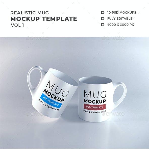 Realistic Mug Mockup Template Vol 1