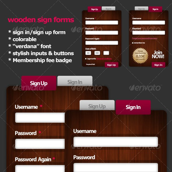 Wooden Style Signup