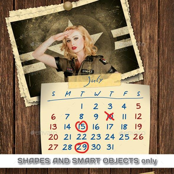 Retro Photos Calendar 2021 - 2022 Template