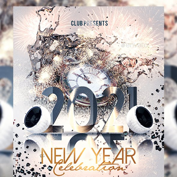 2021 New Year Party Event Flyer