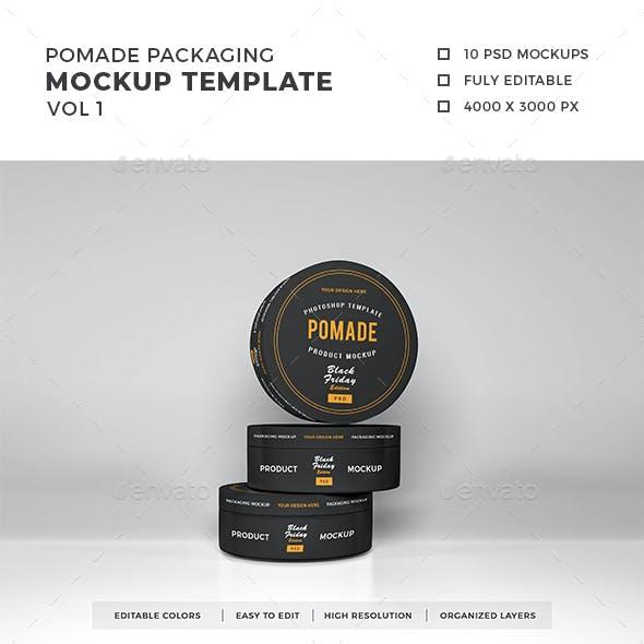Pomade Packaging Mockup Vol 1