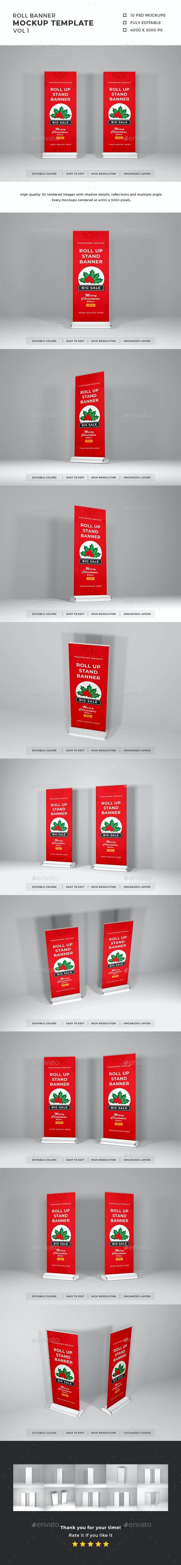 Roll Banner Mockup Template Vol 1 - Print Product Mock-Ups
