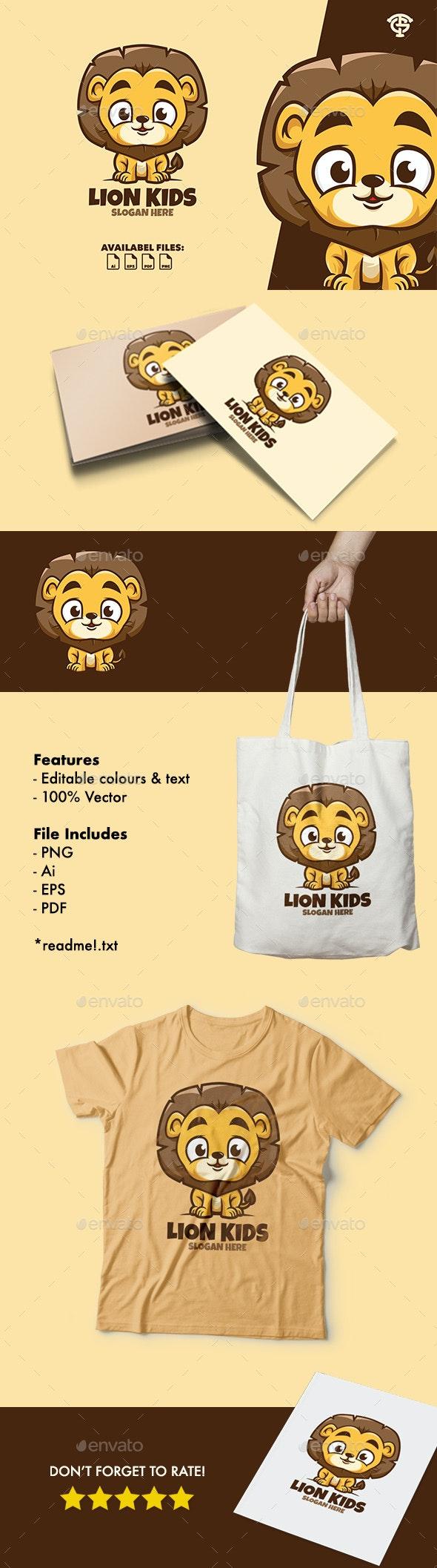 Lion Kids - Logo Mascot - Animals Logo Templates