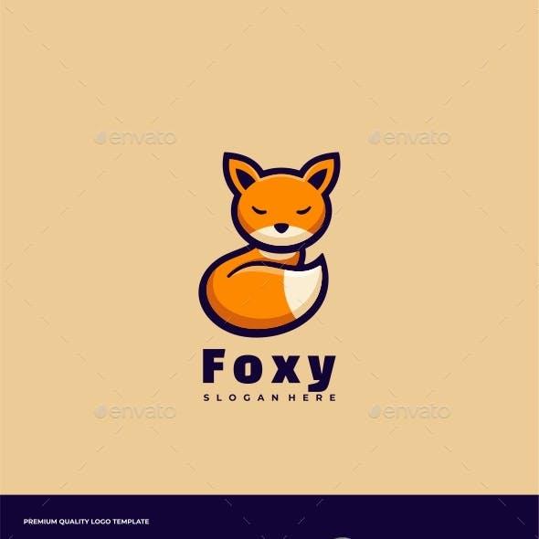 Fox Simple Mascot Logo Template