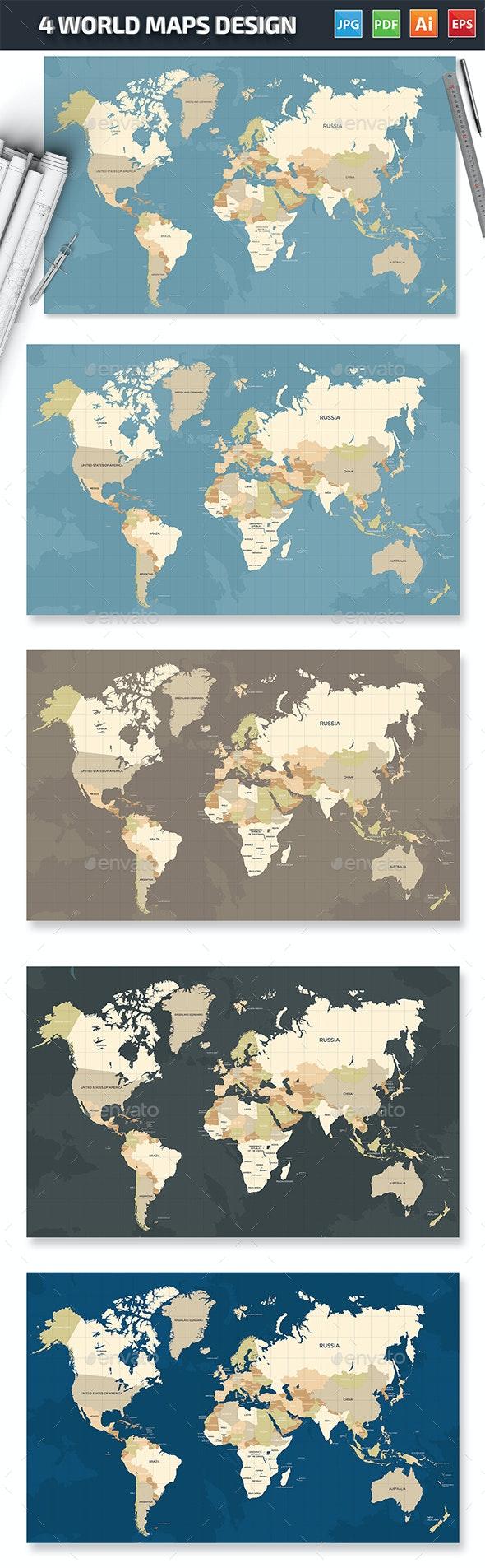 Maps Design - Vectors