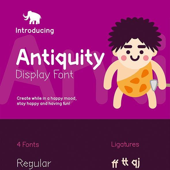 Antiquity Display Font