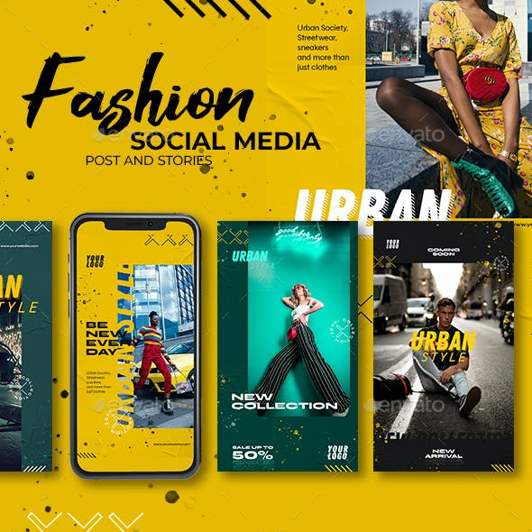 Fashion - Urban Banner - Social Media Post and Stories