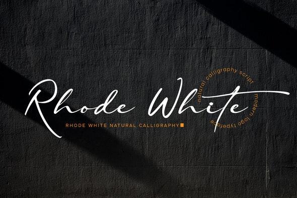 Rhode White - Hand-writing Script