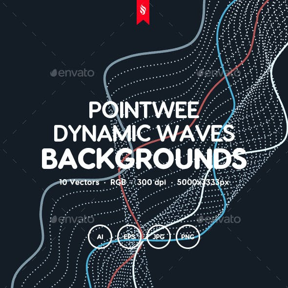 Pointwee - Dynamic Waves of Dots and Lines Vector Backgrounds