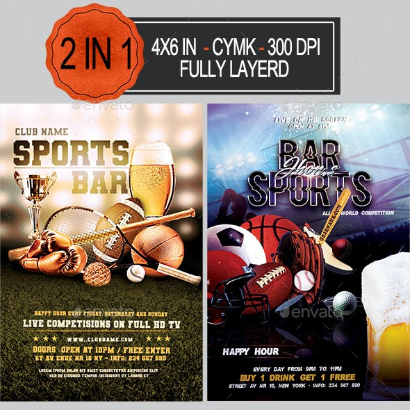 Sports Bar Flyer Bundle