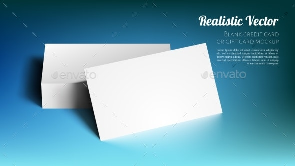 Blank Credit, Gift or Business Card Mockup. - Business Conceptual