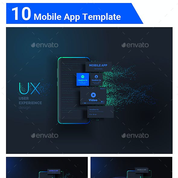 Mobile user interface kit.User experience, user interface created from separate blocks