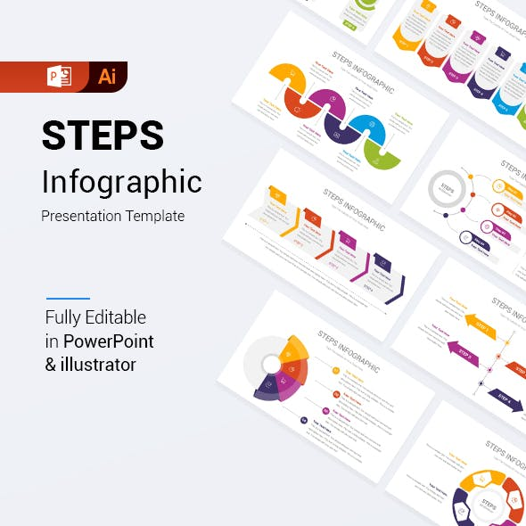 Steps Infographic PowerPoint Template