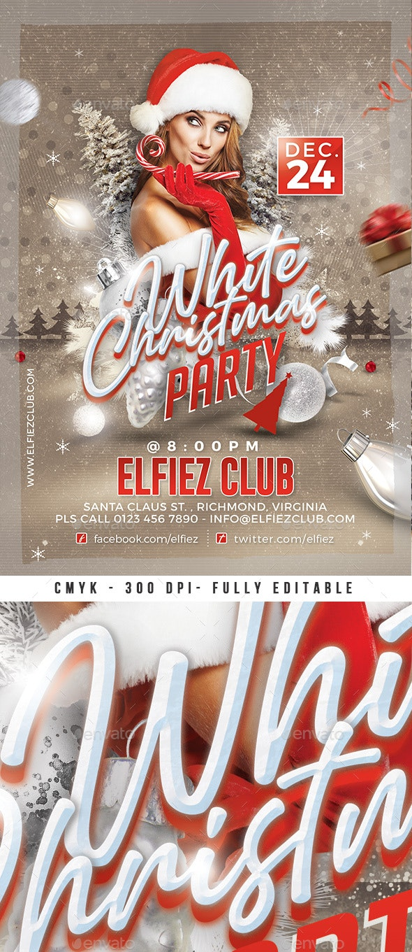 White Christmas Flyer - Events Flyers