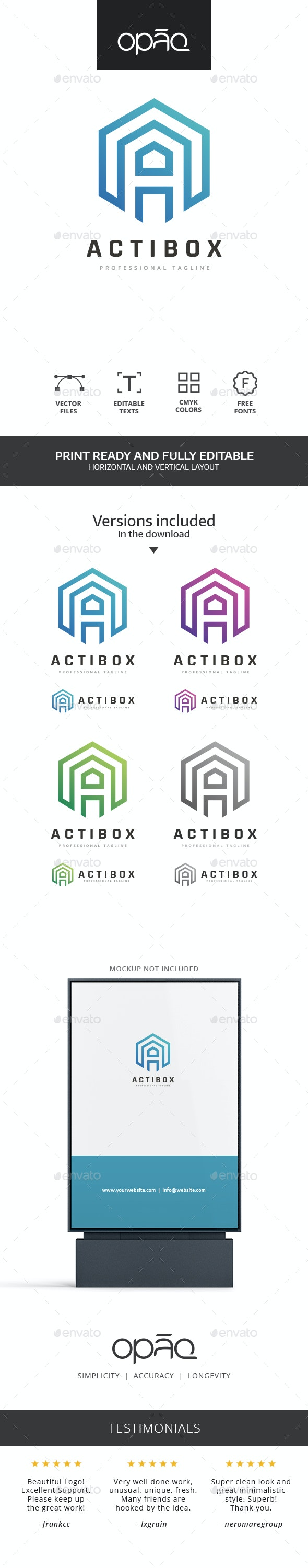 A Letter Cube Logo - Letters Logo Templates