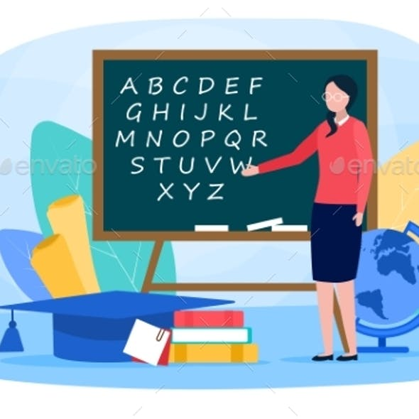 Philologist Web Banner or Landing Page