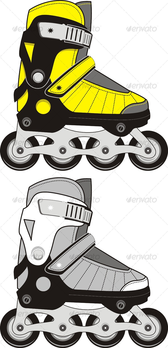 Extreme Sports Roller Skates - Sports/Activity Conceptual