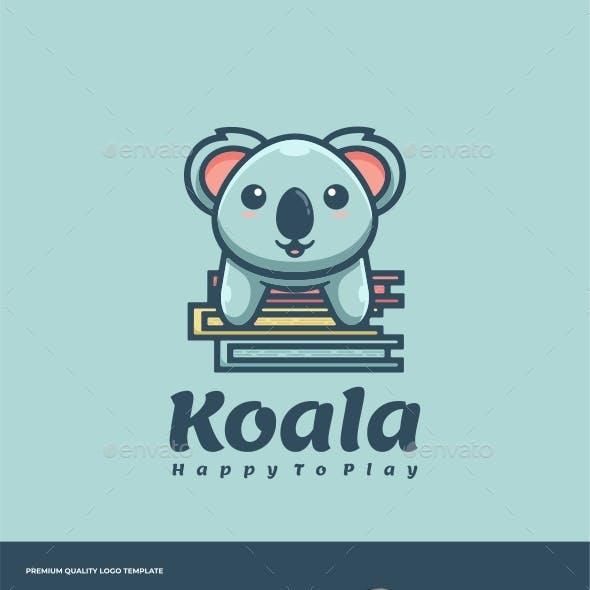 Koala Cartoon Logo Template